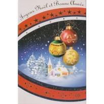 Lot de 10 cartes de Noël, cartes doubles avec enveloppes
