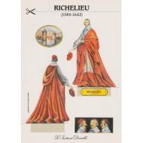 """Carte """"Richelieu"""", carte maquette personnage."""