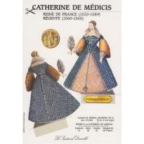 "Carte ""Catherine de Médicis"", silhouette à découper"