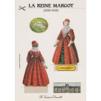 """Carte """"Reine Margot"""", personnage en silhouette"""