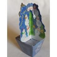 Petits pots décoratifs aux couleurs de Noël, cartes 3 D