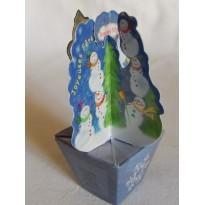 Petits pots décoratifs pour Noël, cartes 3 D