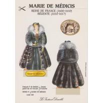 "Carte ""Marie de Médicis"", silhouette à monter"