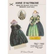 """Carte """"Anne d'Autriche"""", carte silhouette à découper"""