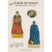"""Carte """"Claude de France"""", carte silhouette à découper"""