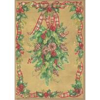 Couronne de Noël, carte de voeux sur fond or