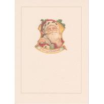 Père Noël en portrait vintage, carte de voeux