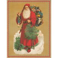 A la rencontre du Père Noël en plein travail ! carte de Noël