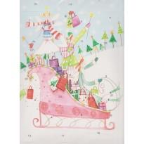 Petites fées en traineau, calendrier de l'Avent