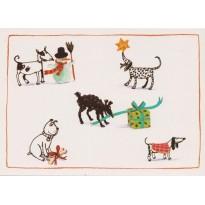 Nouvel An chez nos amis les chiens - Carte de voeux
