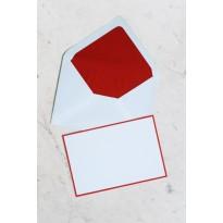 Cartes correspondance ivoire bordées couleur avec enveloppes