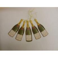 Bouteilles de champagne : 14 étiquettes et marque-places de fête