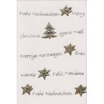 Cartes de Noël Or ou Argent, modèles variés