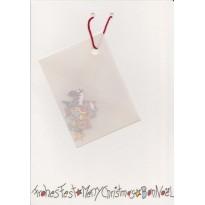 Carte de Noël et Loisirs créatifs avec enveloppe de sujets miniatures