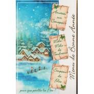Menu de Bonne Année, carte de Voeux