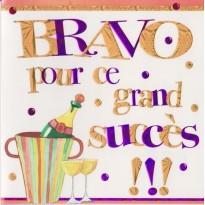 """Carte de Félicitations """"Bravo pour ce grand succès"""""""