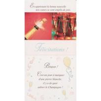 """Carte Félicitations """"Bravo ! C'est un Jour à marquer"""