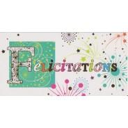 Carte de Félicitations en Feu d'artifice