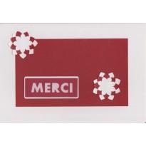 """Cartes faites main """"MERCI"""" avec découpes et collages"""