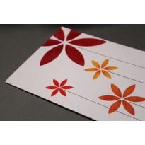 Lot de 5 cartes à fleurs faites main