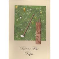 Bonne Fête Papa golfeur, carte faite main