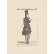 Ensemble de 2 gravures Costume Parisien 1823