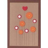 Cartes à Fleurs de papier faites main, scrapbooking