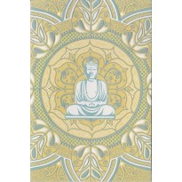 Bouddha méditant, carte de correspondance