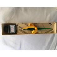 Porte plume en verre torsadé de Murano, couleurs au choix