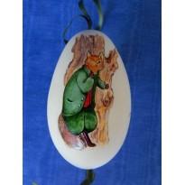 Oeufs d'oie peints à la main, objets décoratifs à suspendre