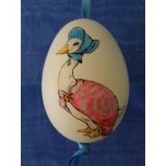 Oeuf d'oie peint à la main, objet décoratif pour Pâques
