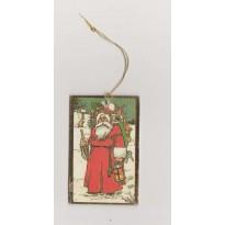 Etiquettes Père Noël sujet à suspendre