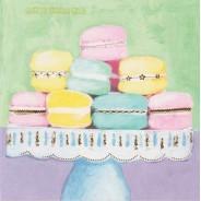 Carte correspondance Macarons