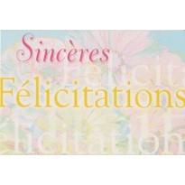 Carte Sincère Félicitations