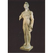 Statue de Minerve en marbre, carte postale d'art