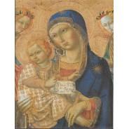 Vierge à l'Enfant avec les Anges de Sano di Pietro carte reproduction