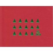 Petits Sapins Verts et Père Noël, carte de Noël