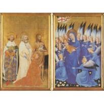 Diptyque de Wilton, carte d'art reproduction de rétable