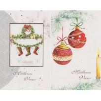 Jeux de 5 cartes de Noël assorties avec enveloppes