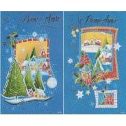 4 cartes de Bonne Année avec enveloppes