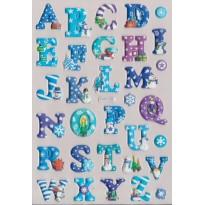 Stickers en relief Alphabets de Noël en deux versions