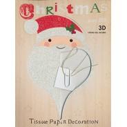Père Noël en papier tissu en 3D