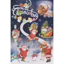 Stickers de Noël pour cadeaux, déco, cartes de voeux