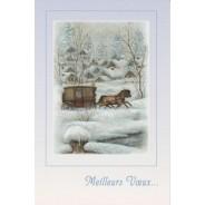Cartes de Noël par jeux de 5 cartes avec enveloppes
