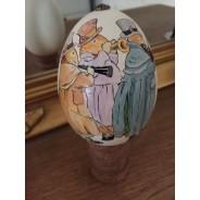 Oeuf d'oie peint à la main, Trio de Musiciens