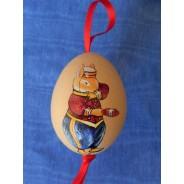 Le Groom facétieux, lapin de Pâques peint à la main sur oeuf