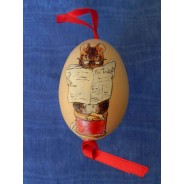 Le tailleur de Gloucester, sujet Beatrix Potter peint à la main sur oeuf