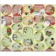 Etiquettes  pour vos cadeaux de Noël avec oursons