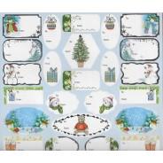 36 Etiquettes  pour cadeaux de Noël