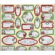 Etiquettes  pour cadeaux aux couleurs de Noël